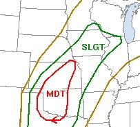 Severe Weather Risk for Sunday, April 26, 2009
