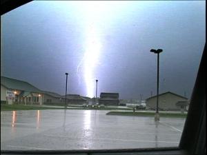 Lightning captured in Fairfax, IA on Friday, May 8, 2009