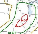Severe Risk for Wednesday, May 13, 2009