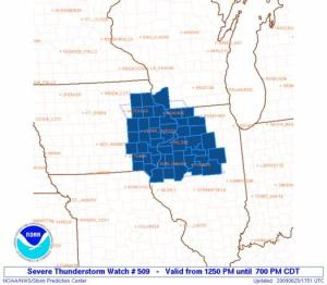 Severe Thunderstorm Watch Until 7:00PM